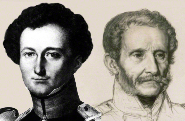portraits of Jomini and Clausewitz