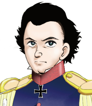 Clausewitz as depected in a Japanese book of cartoons