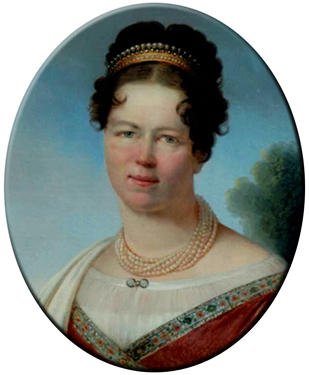 Color portrait of Marie in 1815