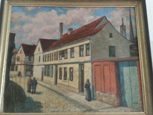 Burg around 1800s. A painting from the Clausewitz Museum