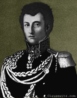 Portrait of Clausewitz in Russian uniform, c.1813