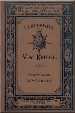 book cover, VOM KRIEGE